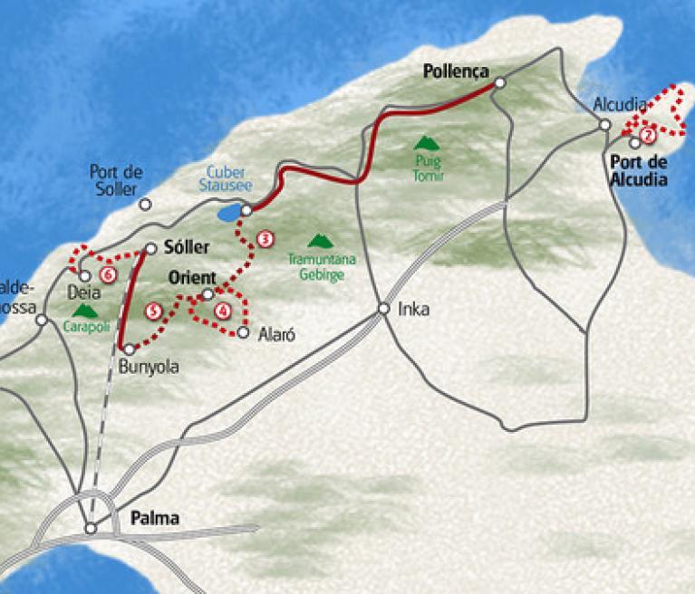 מפה מיורקה המופלאה