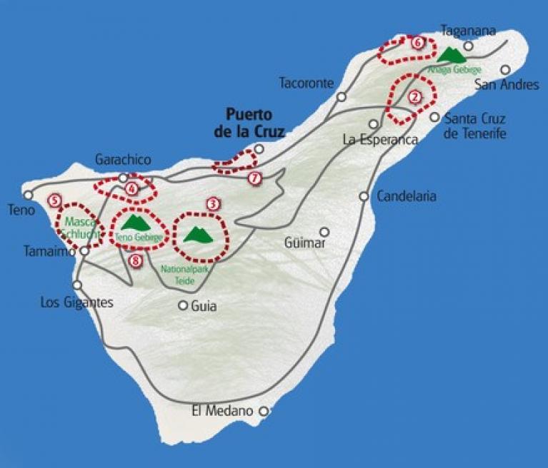 מפה חגיגה והליכה טנריף