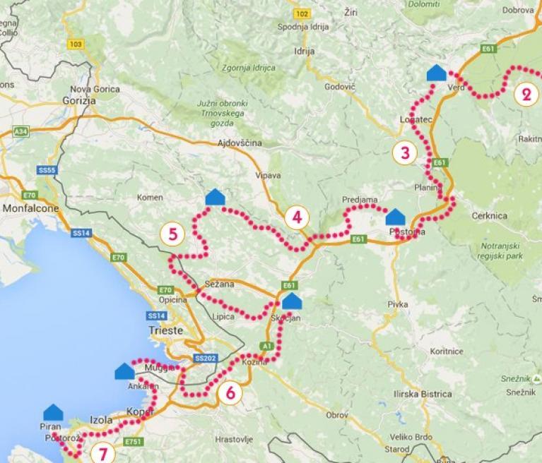 מפה סובב סלובניה