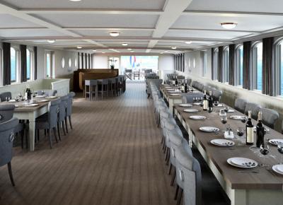 חדר האוכל בספינה MS Magnifique II
