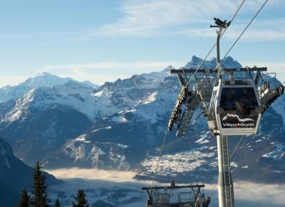 הרכבל באתר הסקי וילאר