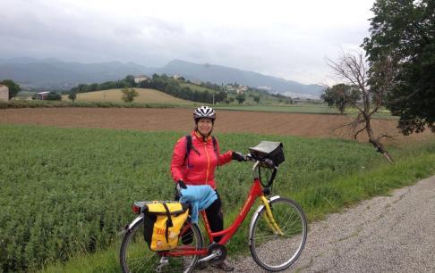 דיצה רינת במסלול האופניים מפירנצה לרומא