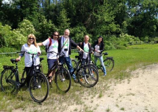 קבוצת רוכבי GA בטיול אופניים לאורך הדונייץ פולין