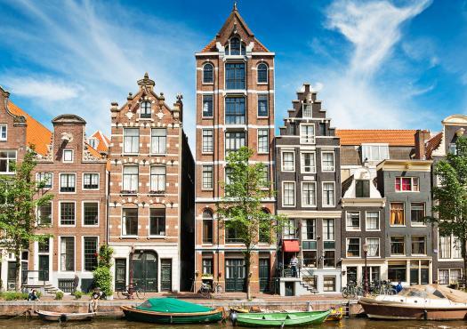 מבט מתעלה באמסטרדם