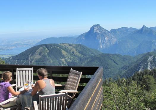 מנוחה בהרים מול נופי חבל זלצבורג