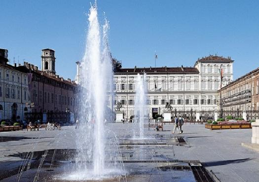כיכר העיר בטורינו, מתוך טיול האופניים
