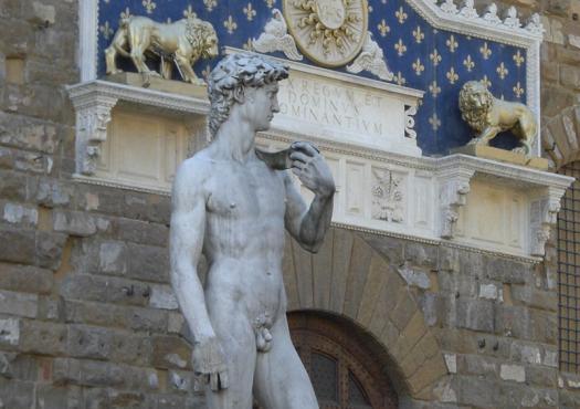 הפסל דוד של מיכלאנג'לו, באקדמיה פירנצה
