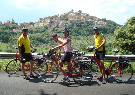 טיול האופניים מפירנצה לרומא