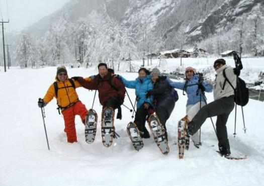 הליכה בשלג באינטרלקן