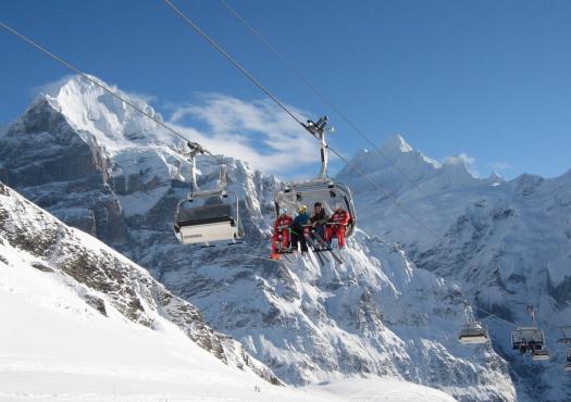 הרכבל באתר הסקי