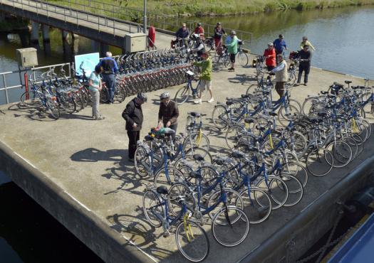 אופניים על המזח