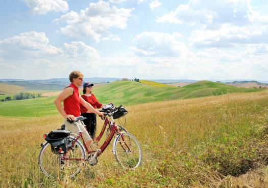 רוכבים על אופנים באיטליה
