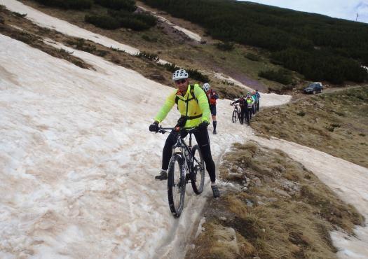 רכיבת שטח בשלג
